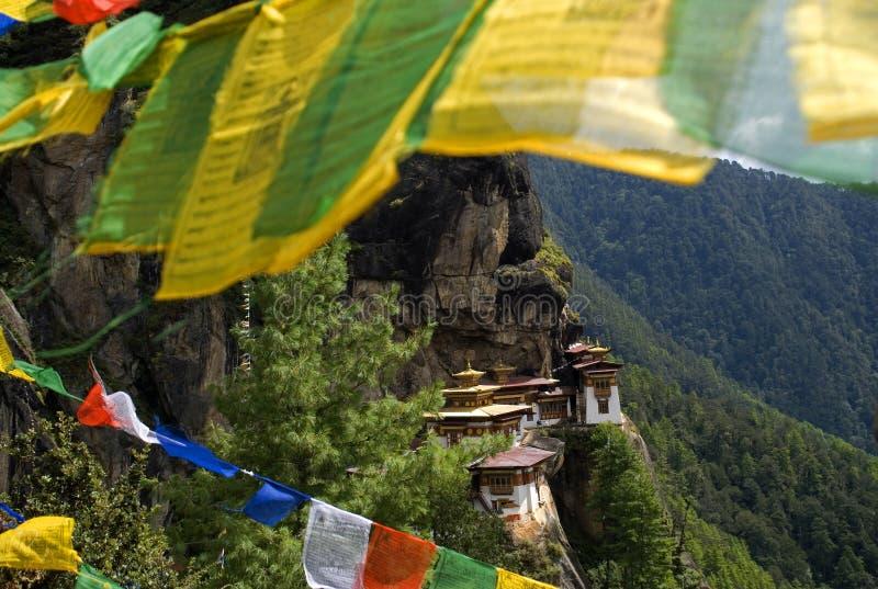 Taktshang Goemba, Bhutan. Taktshang Goemba, the famous Tiger's Nest in Bhutan royalty free stock photos