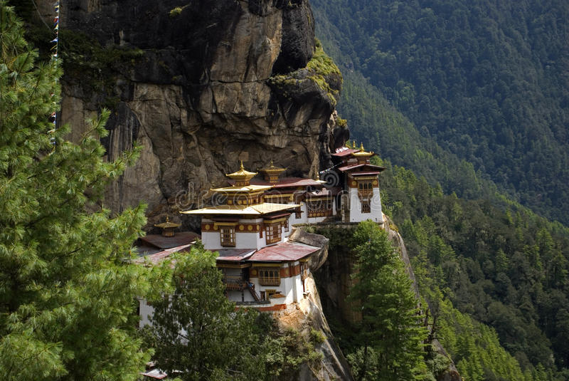 Taktshang Goemba, Bhutan. Taktshang Goemba, the famous Tiger's Nest in Bhutan royalty free stock photo