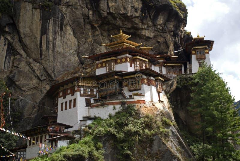 Taktshang Goemba, Bhutan. Taktshang Goemba, the famous Tiger's Nest in Bhutan stock photo