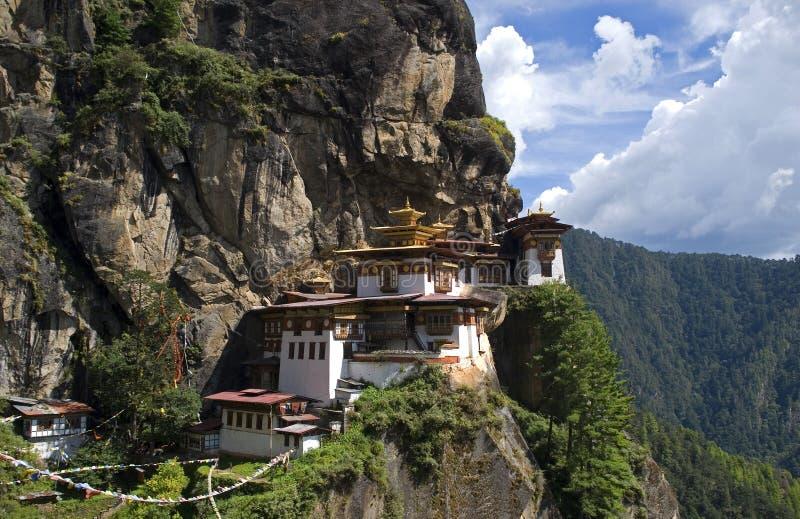 Taktshang Goemba, Bhutan. Taktshang Goemba, the famous Tiger's Nest in Bhutan stock image
