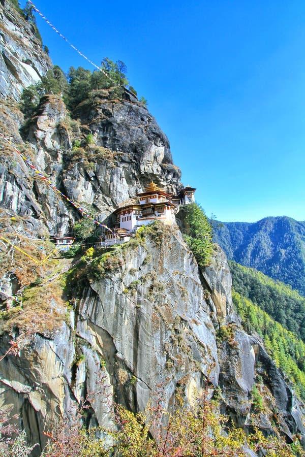 Taktshang Goemba or Tiger`s nest monastery, Paro, Bhutan.  royalty free stock image