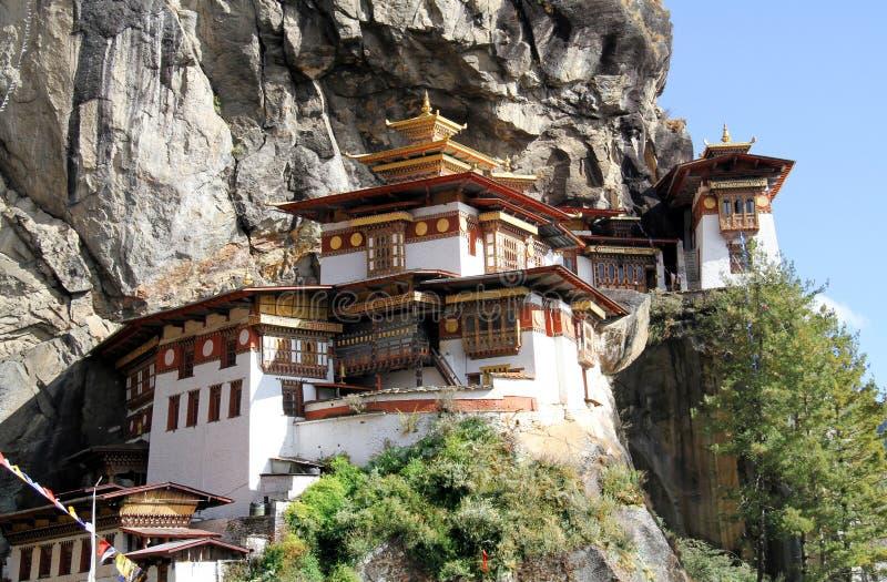 Taktshang Goemba or Tiger`s nest monastery, Paro, Bhutan stock photography