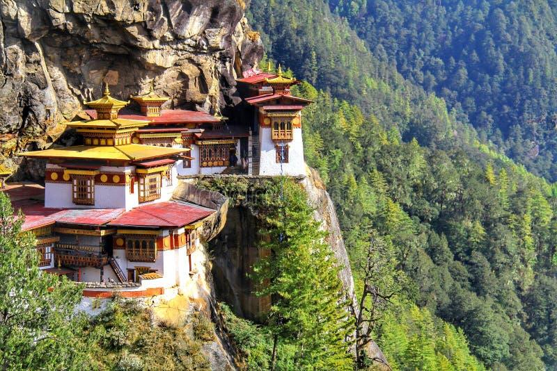 Taktshang Goemba or Tiger`s nest monastery, Paro, Bhutan.  royalty free stock photo