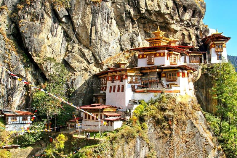Taktshang Goemba or Tiger`s nest monastery, Paro, Bhutan.  royalty free stock photography