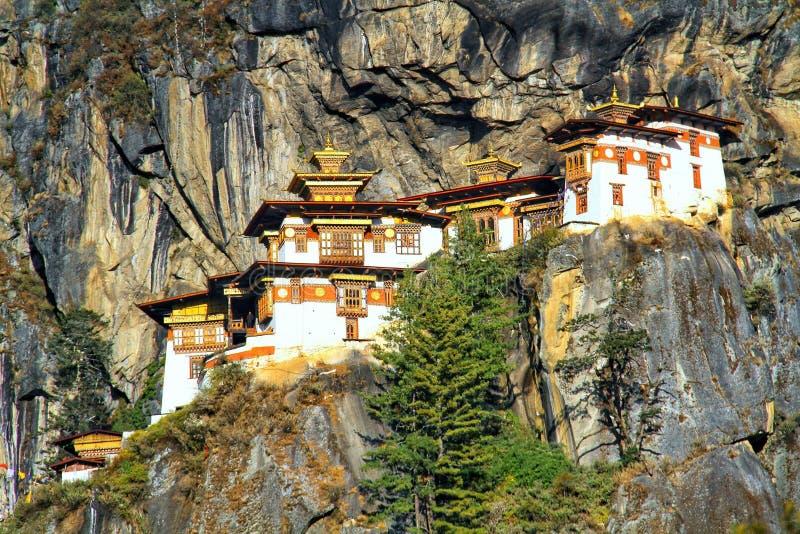 Taktshang Goemba or Tiger`s nest monastery, Paro, Bhutan.  royalty free stock images