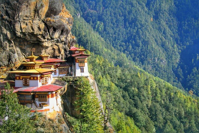 Taktshang Goemba or Tiger`s nest monastery, Paro, Bhutan.  stock photography