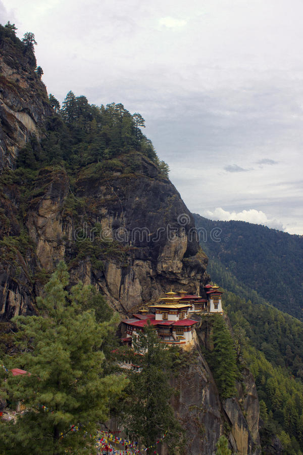 Taktshang Goemba(Tigers Nest Monastery), Bhutan, in a mountain c. Liff stock photos