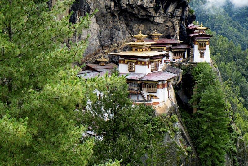 Taktshang monastery in Bhutan. Photo taken on: August 14th, 2015 royalty free stock photo