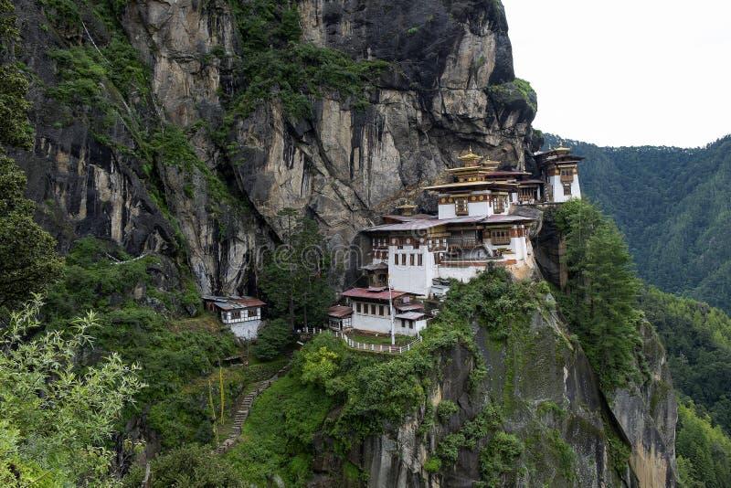 Taktshang monastery in Bhutan. Photo taken on: August 14th, 2015 stock photo