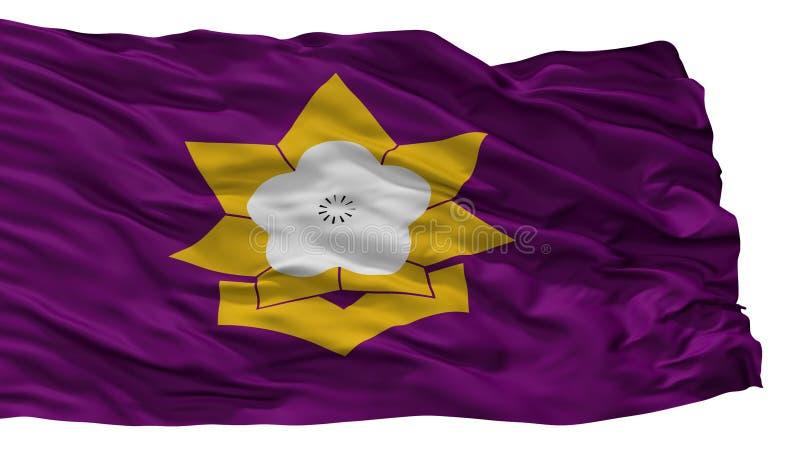 Taku City Flag, Japan, Saga-Präfektur, lokalisiert auf weißem Hintergrund vektor abbildung