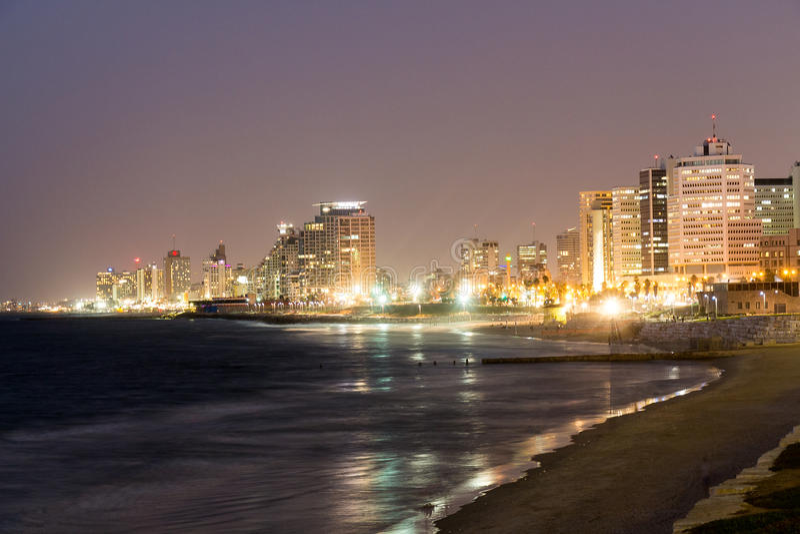Tal Aviv Izrael cityscape imagem de stock