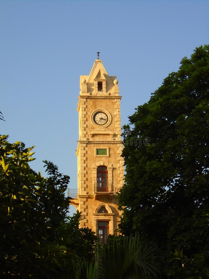 Tal Clock Tower in Tripoli Lebanon. The Tal Clock Tower was an Ottoman`s gift to Tripoli / Trablous Lebanon stock photos