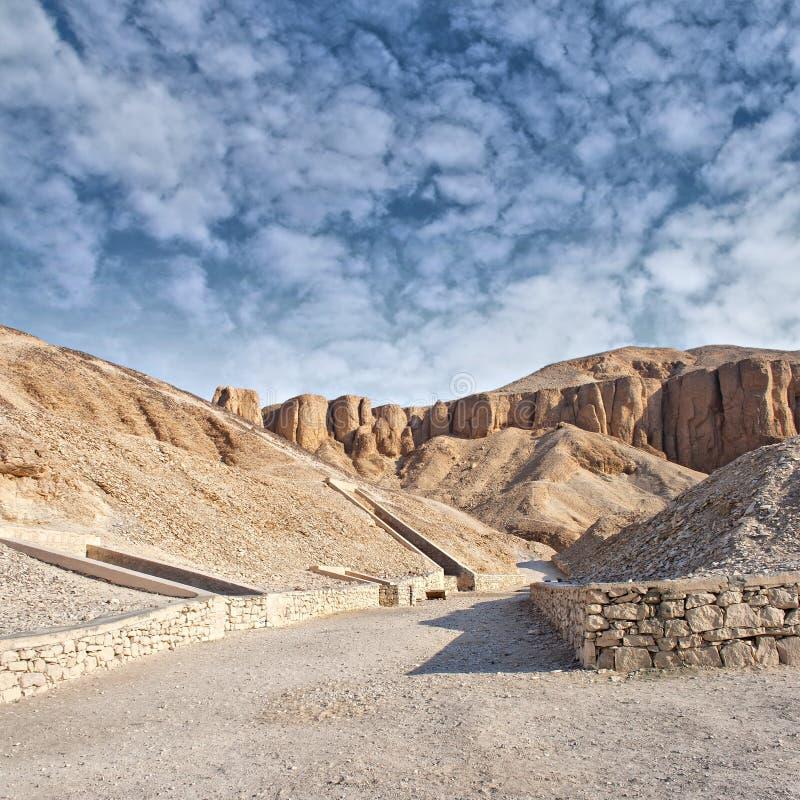 Tal der Könige, Ägypten. stockbild