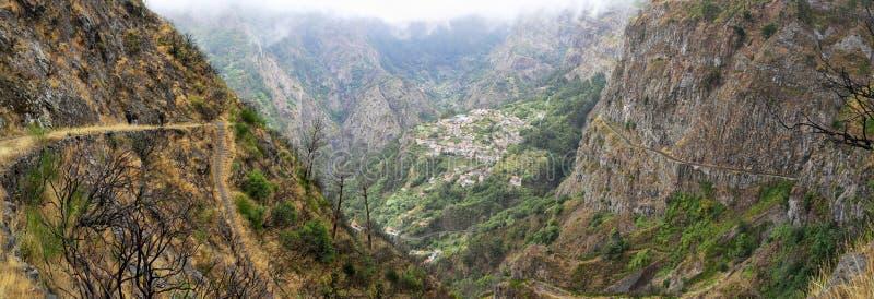 Tal der Nonnen Madeira, Portugal stockfotos
