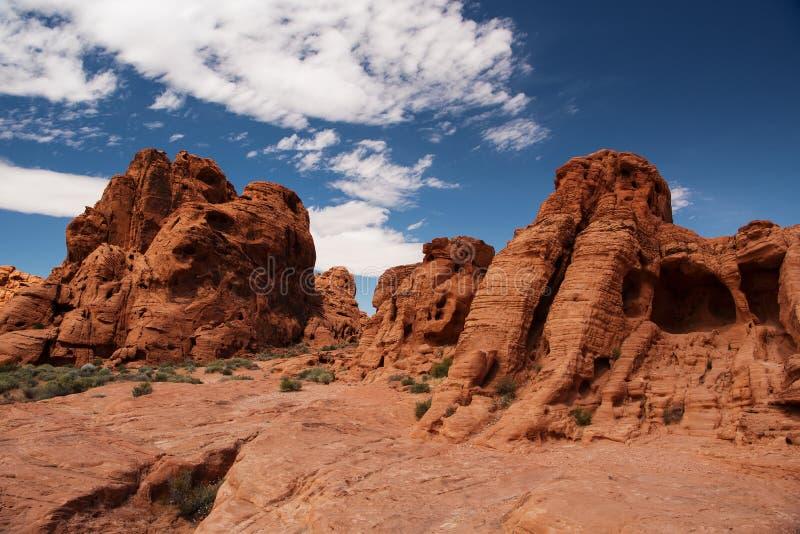 Tal des Feuer-Nationalparks, Nevada lizenzfreies stockfoto