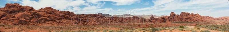 Tal des Feuer-Panoramas lizenzfreie stockfotografie