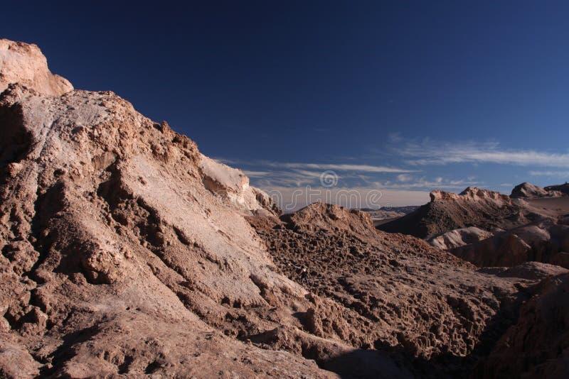 Tal des Mondes in Atacama stockbild