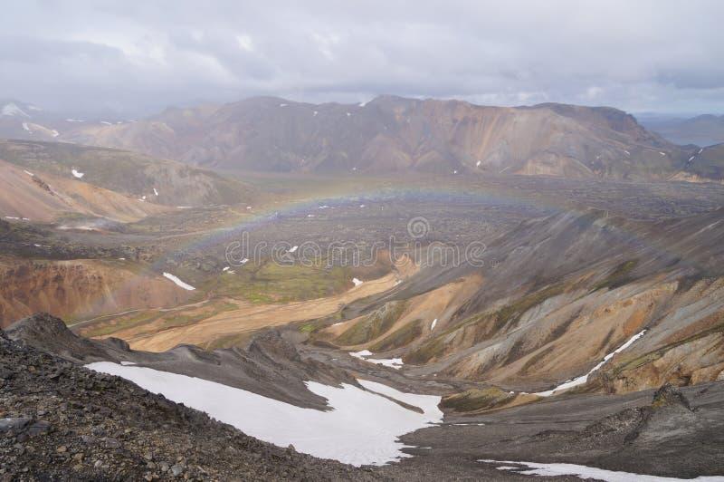 Tal des Nationalparks Landmannalaugar, Island lizenzfreie stockbilder