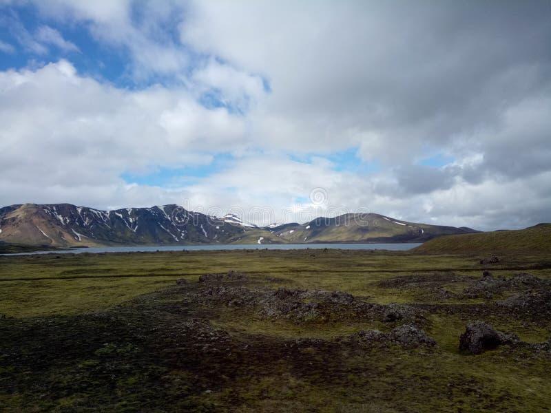 Tal des Nationalparks Landmannalaugar, Island stockfoto