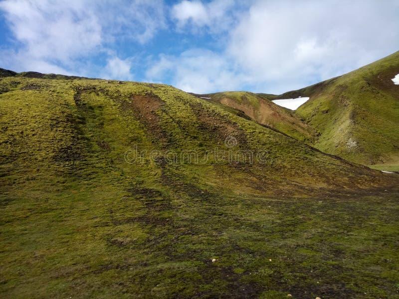 Tal des Nationalparks Landmannalaugar, Island stockbild