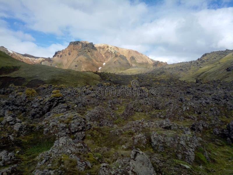 Tal des Nationalparks Landmannalaugar, Island stockbilder