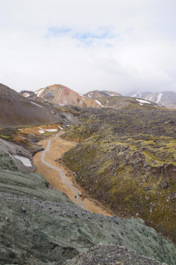 Tal des Nationalparks Landmannalaugar, Island lizenzfreies stockbild