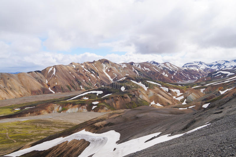 Tal des Nationalparks Landmannalaugar, Island stockfotos