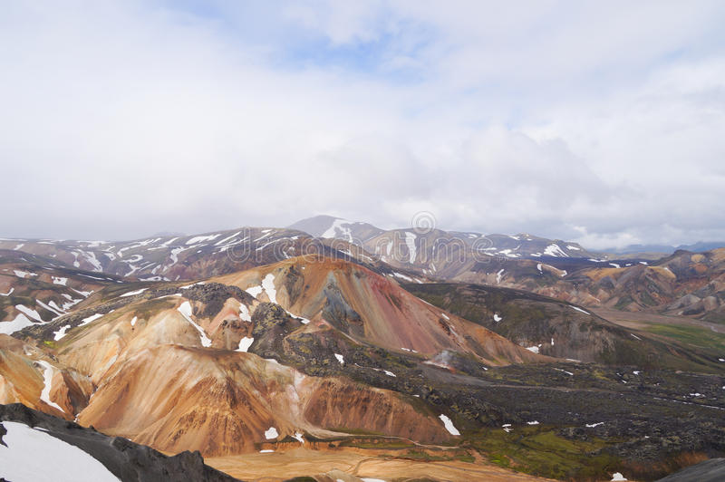 Tal des Nationalparks Landmannalaugar, Island lizenzfreie stockfotos