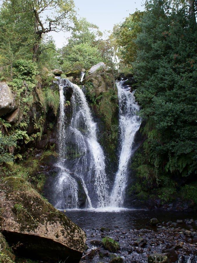 Tal des Verwüstungs-Wasserfalls stockbild