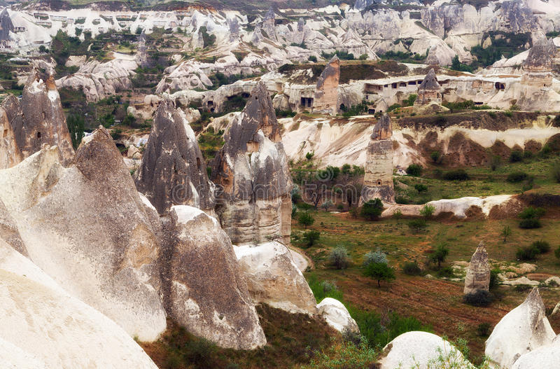 Tal in Goreme, Cappadocia lizenzfreies stockbild