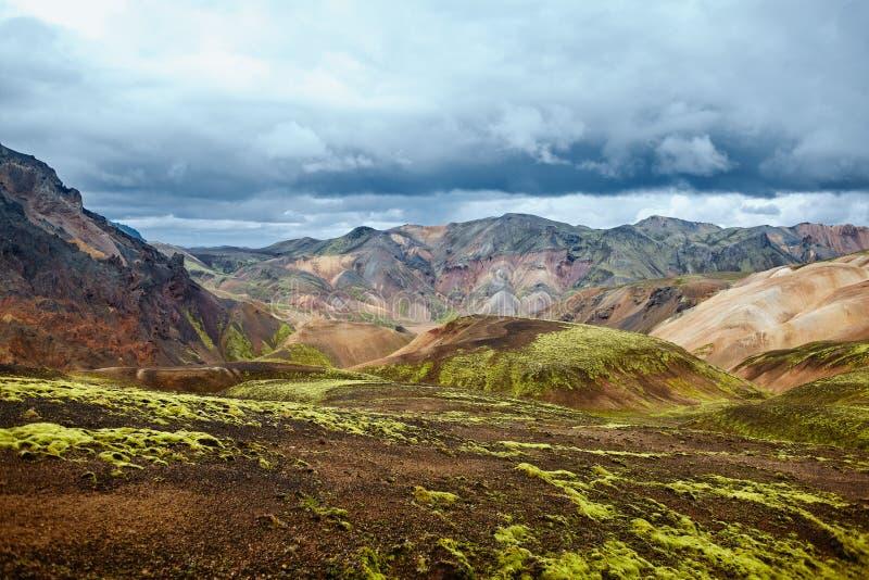 Tal-Nationalpark Landmannalaugar, Island stockfotos