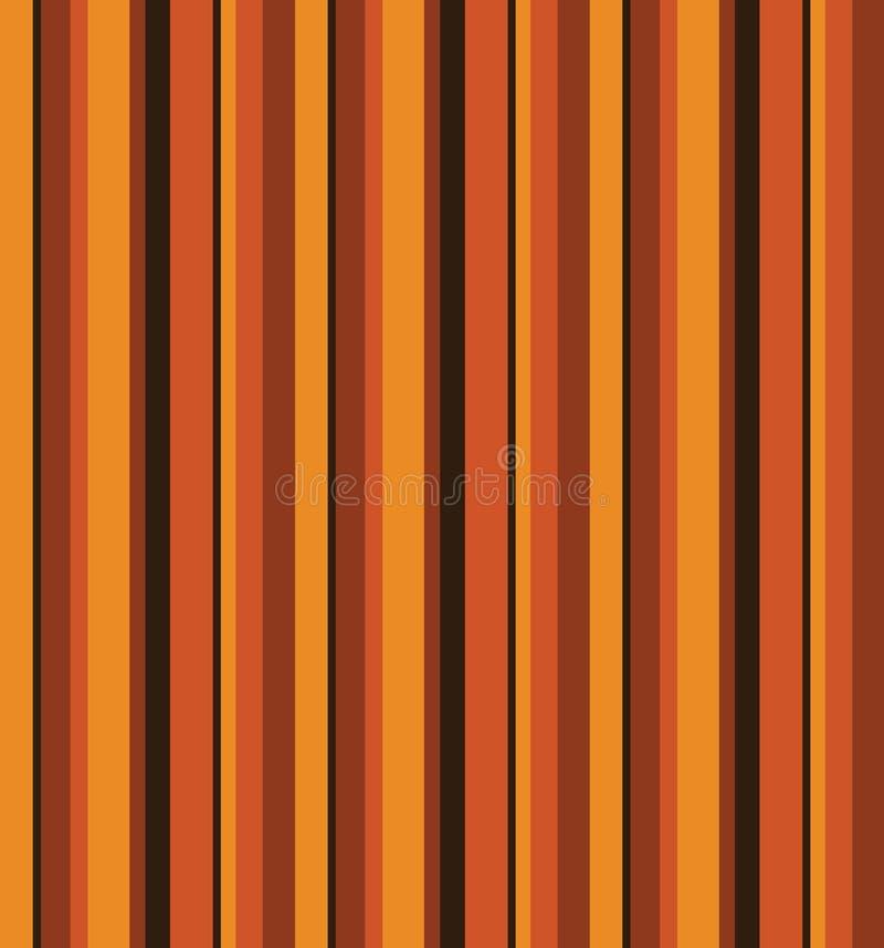 70-tal Retro Autumn Pattern vektor illustrationer
