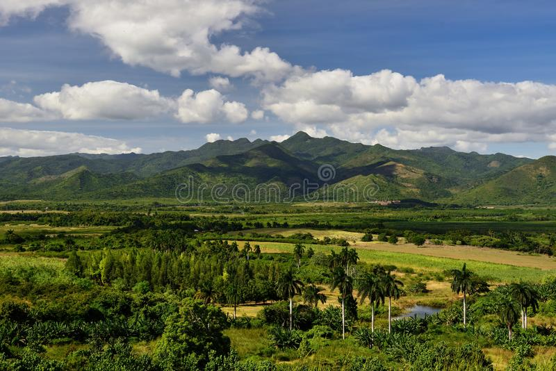 Tal Valle de Los Ingenios nahe Trinidad-Stadt in Kuba lizenzfreies stockfoto