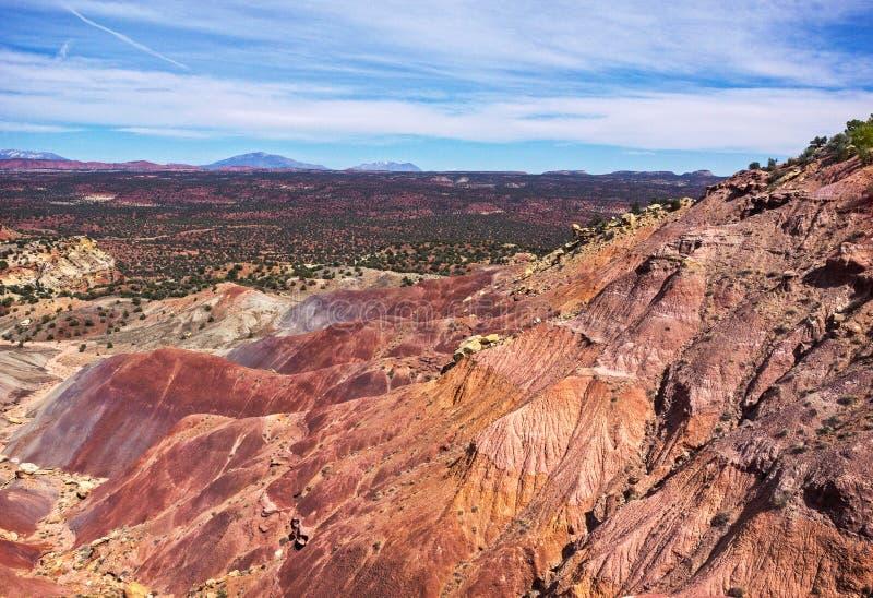 Tal von Burr Trail lizenzfreie stockfotos