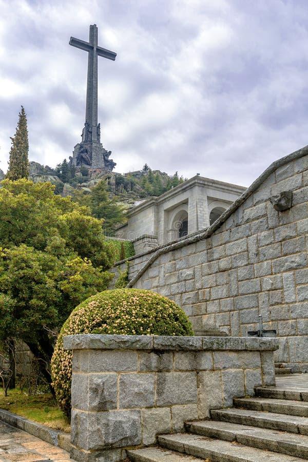 Tal von gefallen (Valle de Los Caidos), Madrid, Spanien lizenzfreies stockfoto