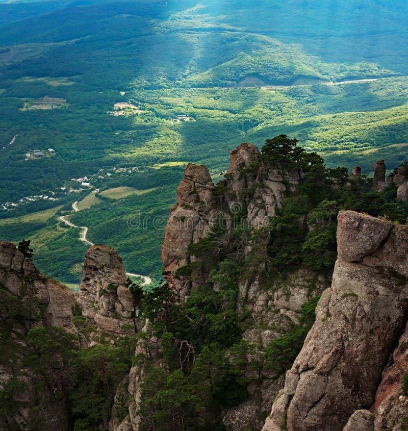 Tal von Geistern auf dem Demerdji-Berg stockbild