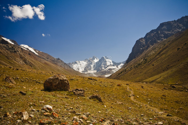 Tal von Pamir lizenzfreies stockbild