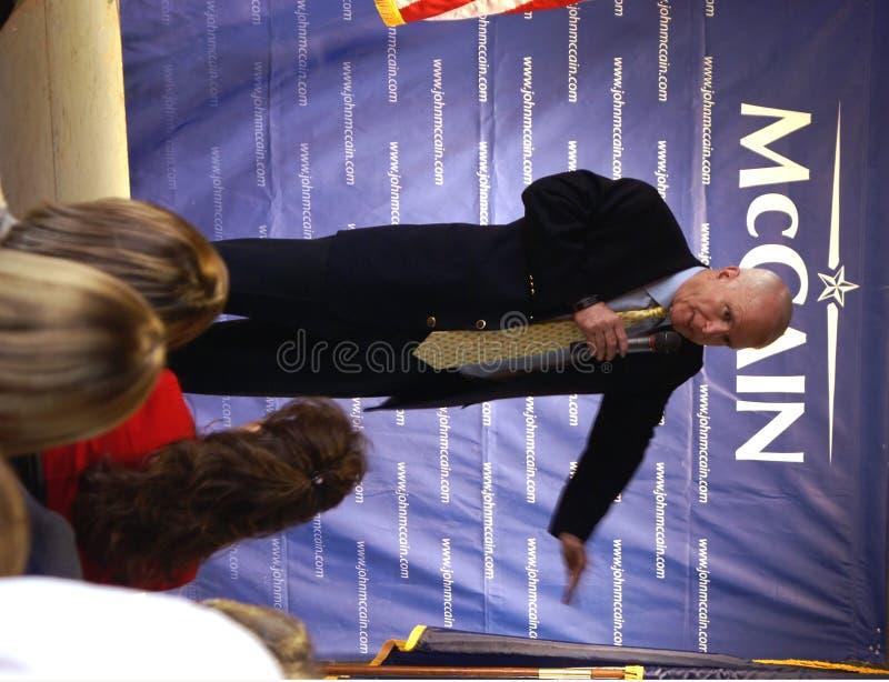 tala för john mccain royaltyfri foto