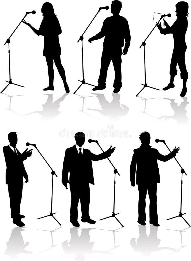 tala för mikrofon royaltyfri illustrationer