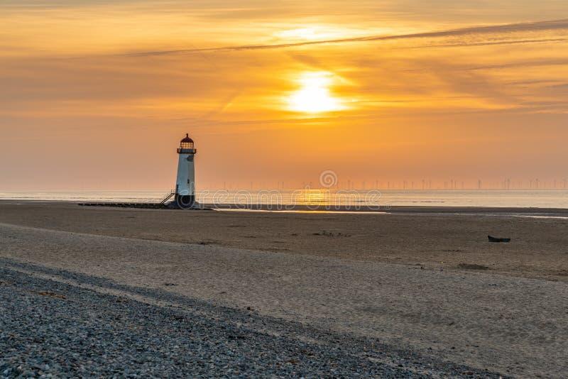 Talacre latarnia morska, Clwyd, Walia, UK zdjęcia stock