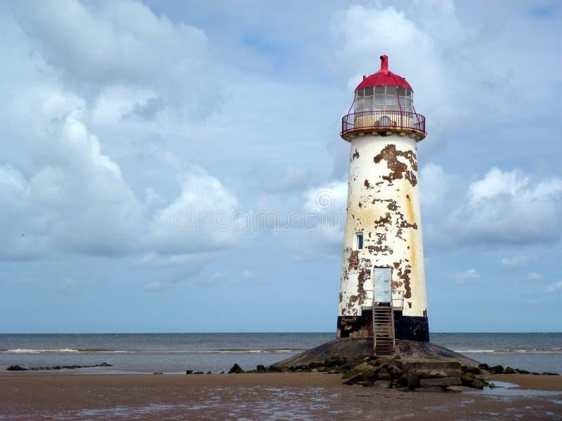 Talacre latarnia morska Vista zdjęcie stock