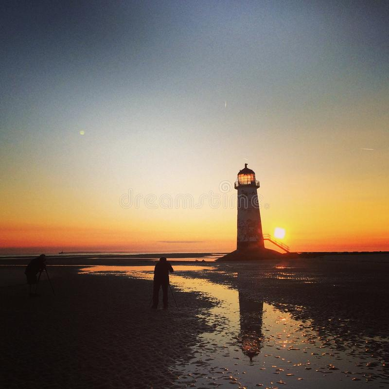 The Talacre Lighthouse Stock Image. Image Of Crooked