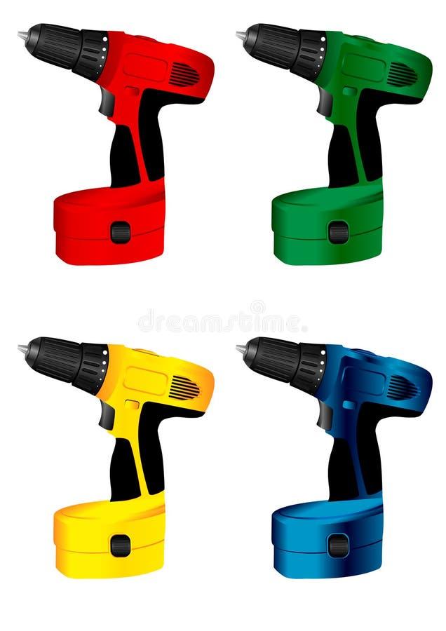 Taladro eléctrico de la herramienta stock de ilustración