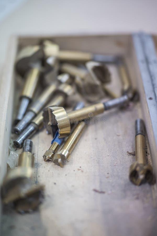 Taladros de las herramientas del taller fotografía de archivo libre de regalías