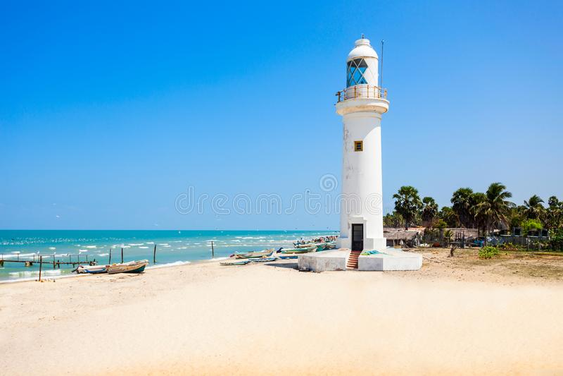 Talaimannar灯塔,斯里兰卡 免版税库存照片