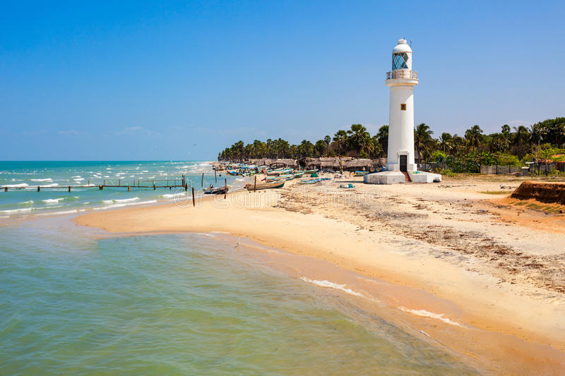Talaimannar Lighthouse, Sri Lanka stock image