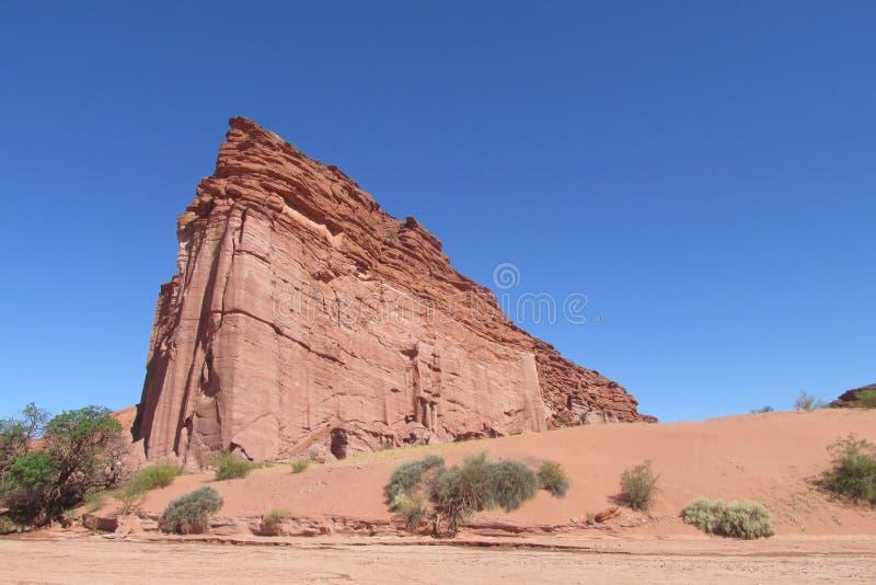 Talampaya红色岩层 库存照片