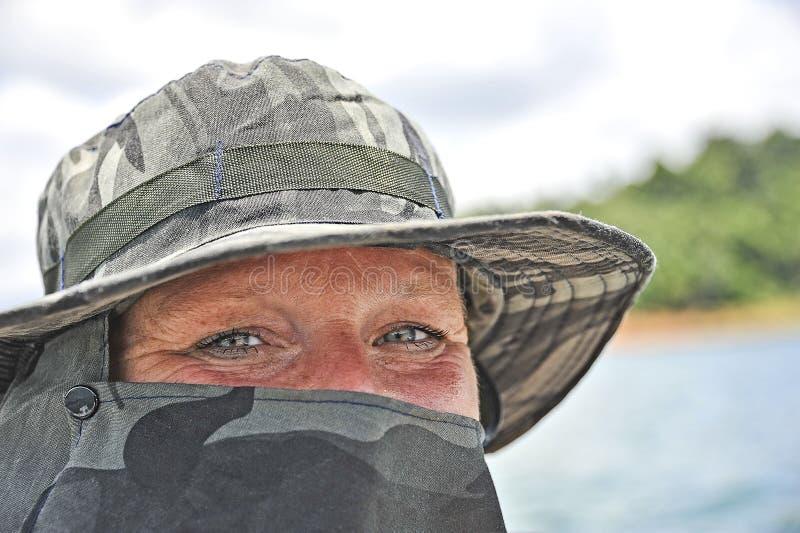Talande ögon av en kvinna royaltyfri foto