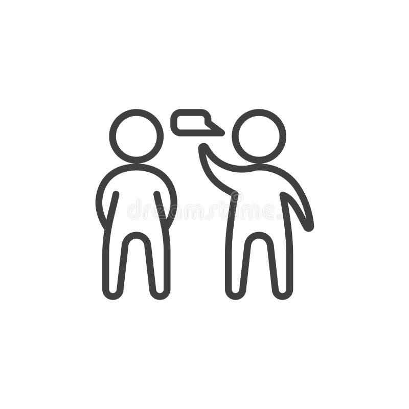 Talande folklinje symbol royaltyfri illustrationer