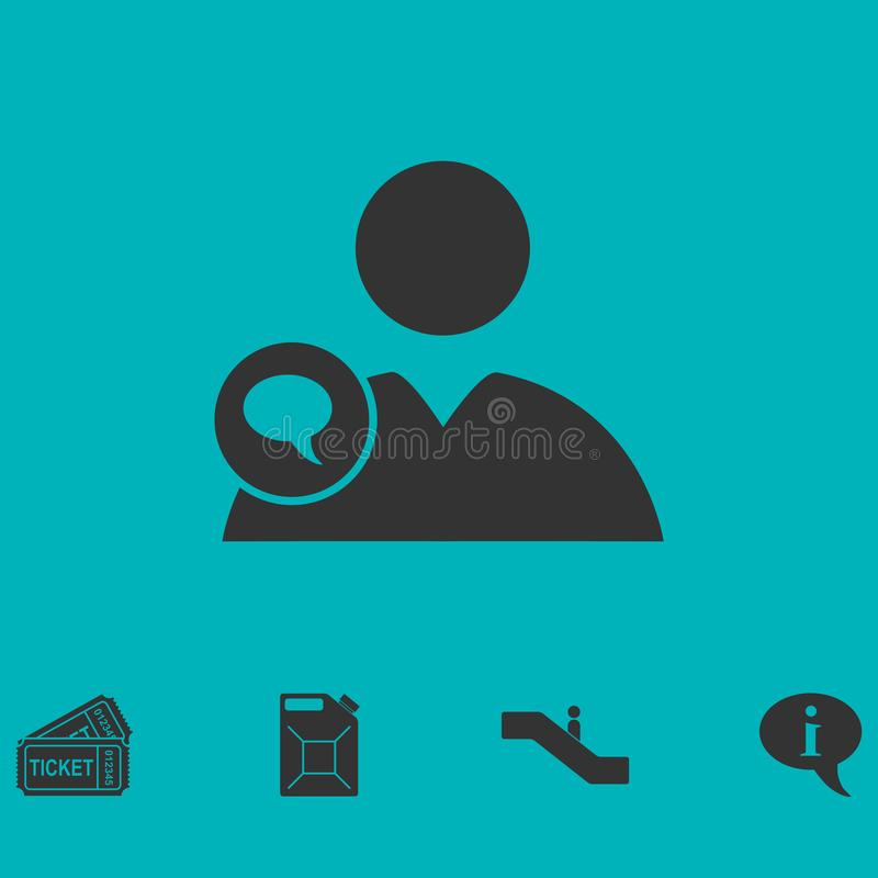 Talande folksymbol framlänges vektor illustrationer